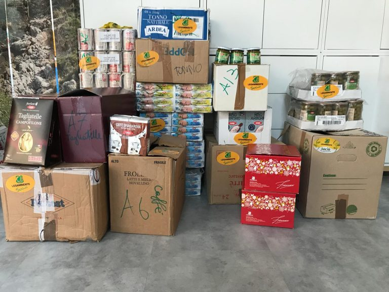 La raccolta di Legambiente Sicilia per le famiglie in difficoltà