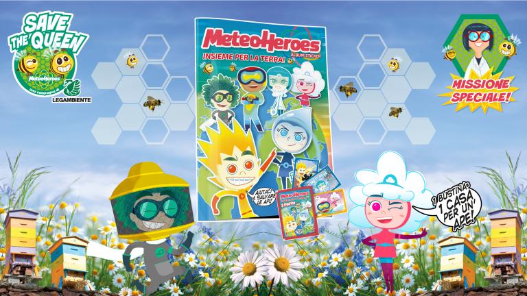 MeteoHeroes-Legambiente: un album di figurine per salvare api e Pianeta